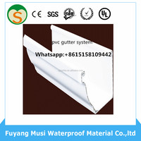 FACTORY DIRECT! new arrival! home building materials white PVC gutter plastic rainwater gutter
