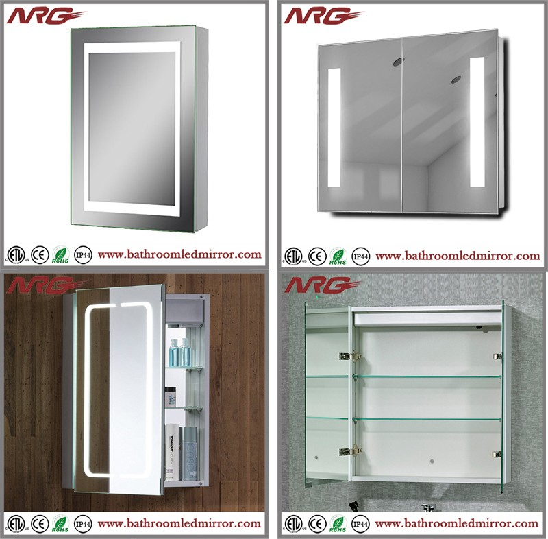 High quality led lighted bathroom mirror cabinet