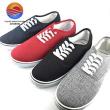 2017 Italian Design Comfortable Canvas Upper Casual Lace-up Men Shoes