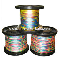 Wholesale Cheap price pe orange braided fishing line