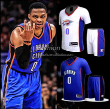 Westbrook 0 Wholesale cheap custom design dry fit team basketball jersey uniform shirts