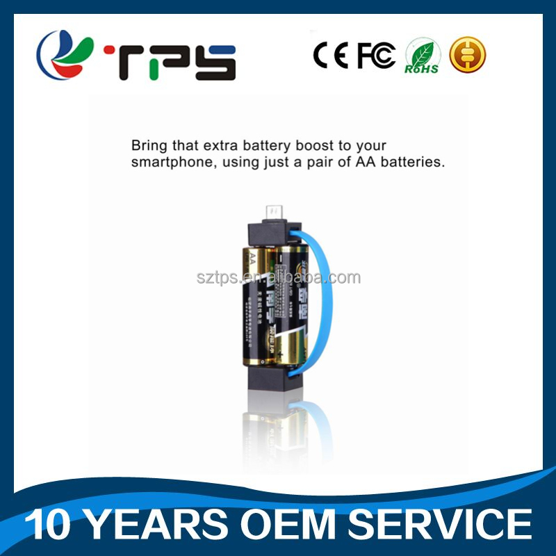 factory Newest applying in emergency situations for mini mobile phone aa battery charger