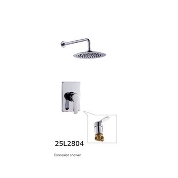 Luxurious Factory Price Brass Concealed Black Shower Faucet Dual Handle Shower Set With Shower Head