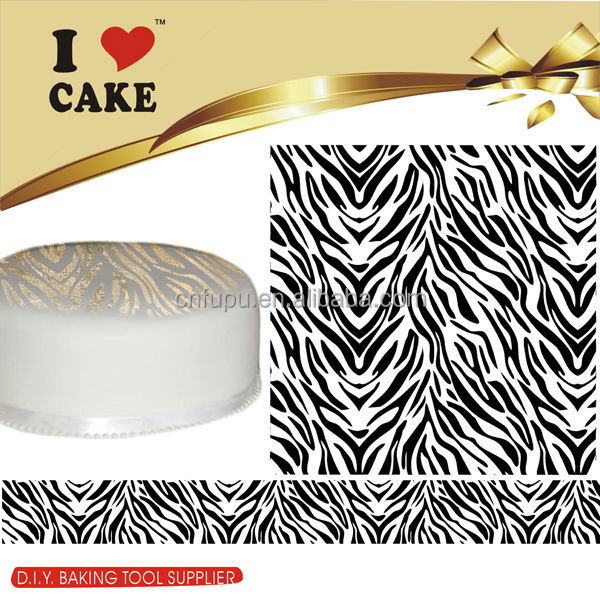 Cake Decorating Damask Cake Stencil