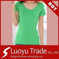 Custom Green Women's Blank T-shirts with no minimum made in China