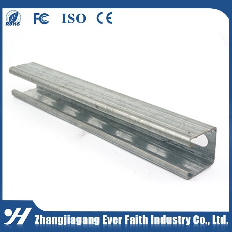 Galvanized Roll Formed Slotted Steel Strut Channel Profile