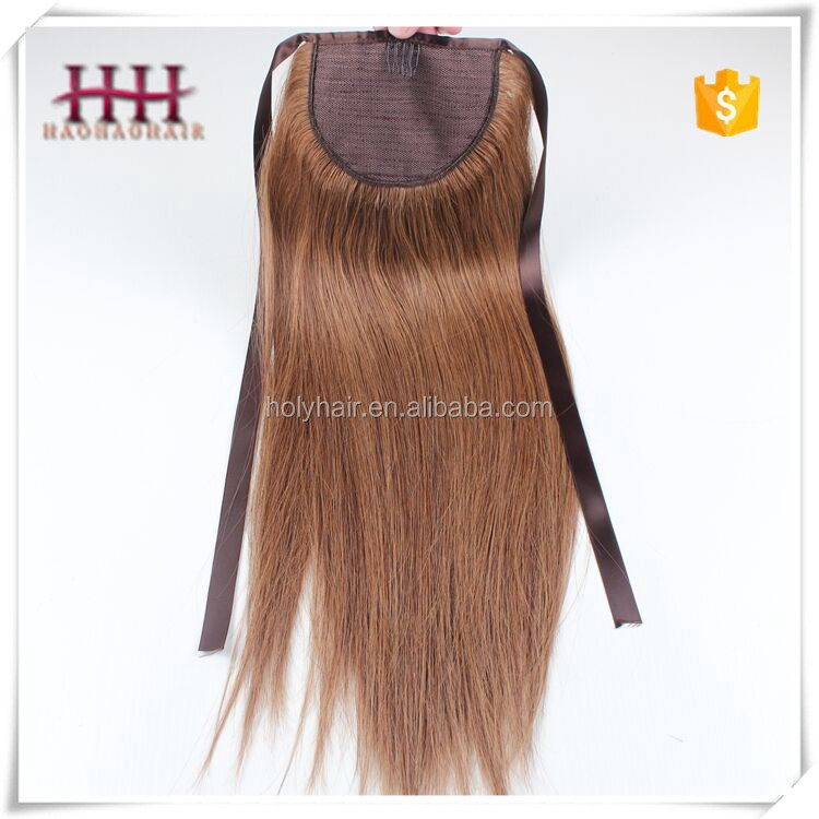 Unprocessed Grade 8a Wholesale Brazilian Virgin Hair,100% Human Wholesale Hair Ponytail