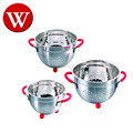 2017 High Quality 1.5 qt ,3.0 qt, 5.0 qt Stainless Steel vegetable Colander ,Fruit Basket