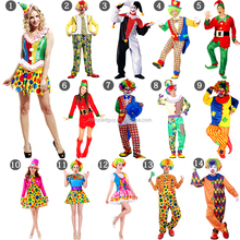 In stock Christmas adult and kids clown costume