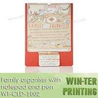 WT-CLD-1002 family organiser wall calendar with notepad