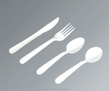 3.8g Heavy Weight PP Disposable Plastic Kitchenware forks spoons knives and soupspoons