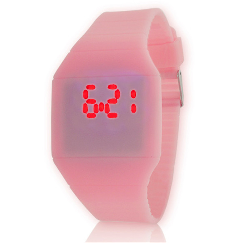 fashion silicone cheap children's watch led touch screen digital watches for girls
