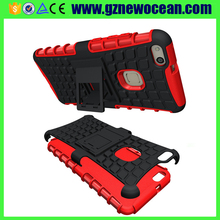 Factory price PC Silicone Combo rugged Kickstand phone case cover for Huawei P10 lite