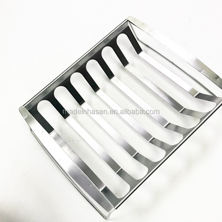 Premium Barbecue Spare Rib Rack, Holds 6 Portions, Works in Kettle Ovens and Grills