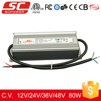 KV-24080-TD triac dimmable IP67 80W 24V 3.33A waterproof led strip power supply