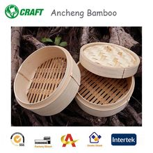 Eco-friendly Mini 4/6 Inch Bamboo Steamers / Bamboo Steamer Basket