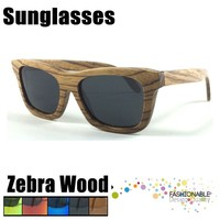 2016 Latest Design zebra wood made radar sunglasses
