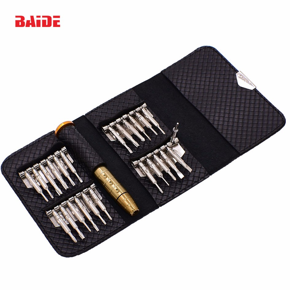 High Quality CRV 25 in 1 Wallet Screwdriver Set for iPhone Watch Laptop Torx Electronic Tools
