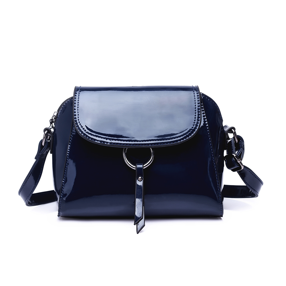 Newest women patent leather lady fashion crossbody bag at low price