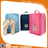 Custom packaging simple type 600D tote travel storage carry shoes bag for 1 pair