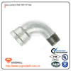 bake galvanized malleable iron pipe fitting female 90 degree bend