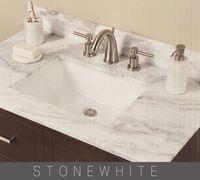 hotel decoration white marble countertops bathroom