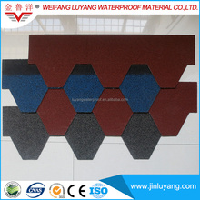 Flexible Fiberglass Asphalt Roofing Shingles/Rainbow Roofing Tile from Factory