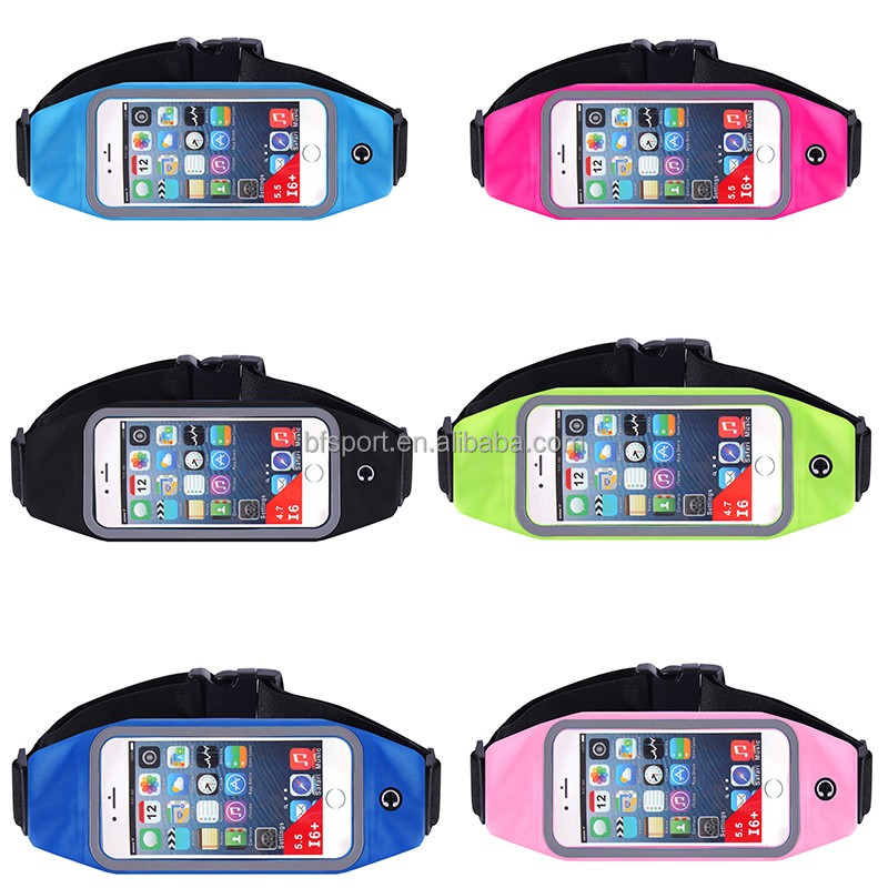 Wholesale 4.7 and 5.5 inch waterproof running waist pack bag