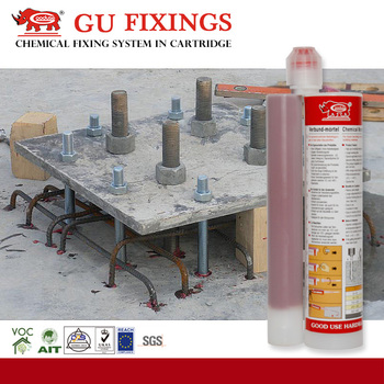 Tropical epoxy resin for diamond drilled holes adhesive reinforced concrete