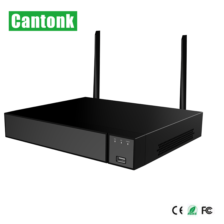 Hot Selling Cantonk H.265 4 Channel WiFI NVR with 1HDD 4MP Support