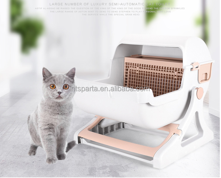 Plastic Automatic sifting cat litter cat sand tray /pan cat toilet wholesale