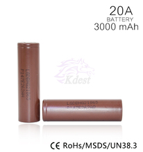Best selling products LG HG2 Battery 3.7v 3000mah battery 18650 lg hg2/lg d1, Samsung 30A/30B/30Q,SE VTC6 18650 3000 Battery