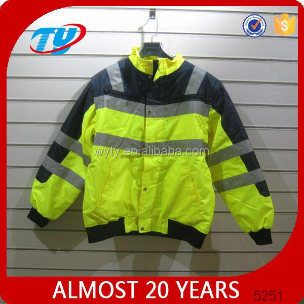 navy high visibility reflective safety jacket