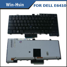 Light up keyboard laptop for Dell E6410 with backlight laptop keyboard