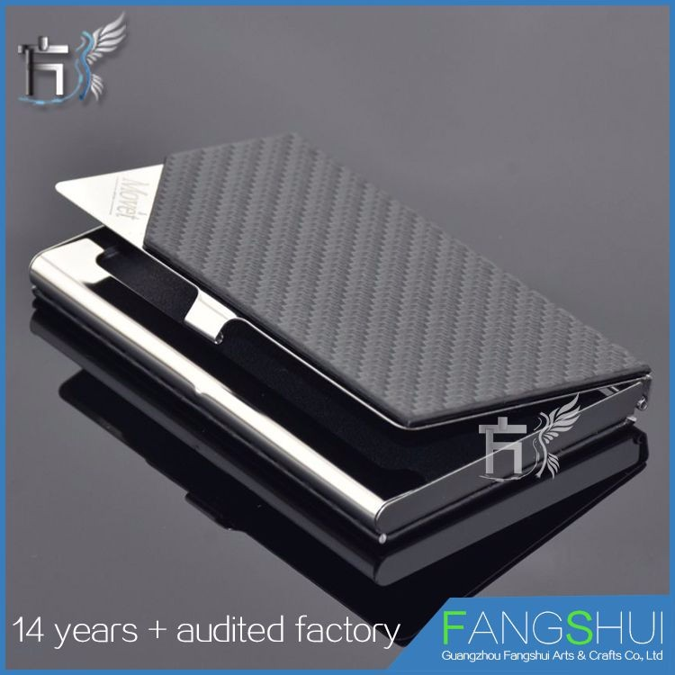 Factory price carbon fiber card holder steel