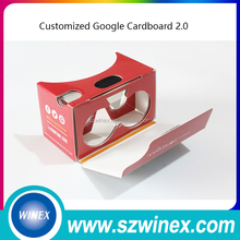 "Custom logo Google cardboard version 2.0 Google Cardboard 2 virtual reality vr3D glasses for 3.5-6"" phone Rift"