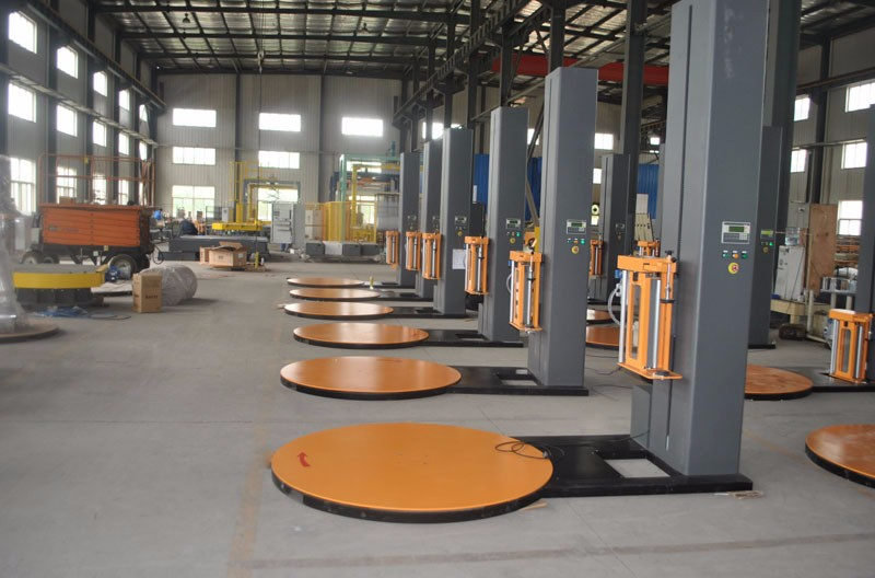 Direct Factory Price and hot selling machine Top press pallet wrapping machine