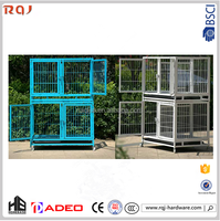 Original Metal popular plastic powder coated foldable dog crate pet cage