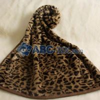 Hot Sale Microfiber Animal Print Velour Fabric