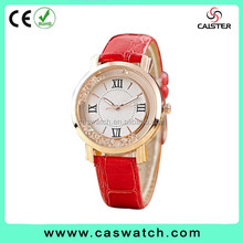 2016 classic style Roman numerals watch, custom made crystal diamond lady watch, delicate high quality quartz watch