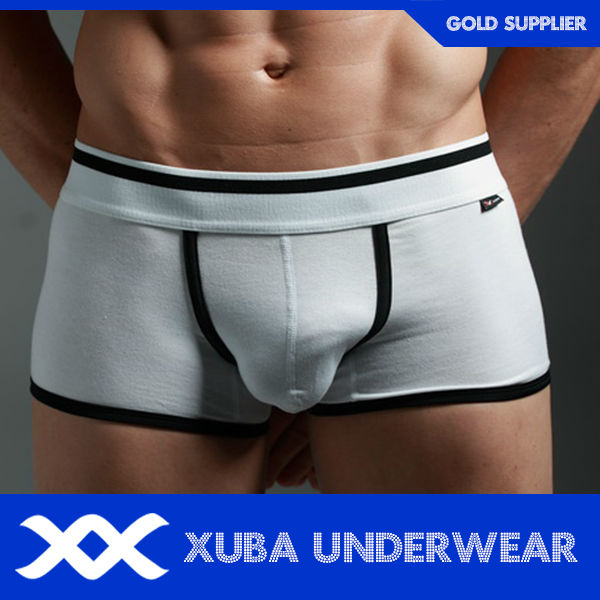 men cotton spandex polyurethane front open mens underwear boxer(P)
