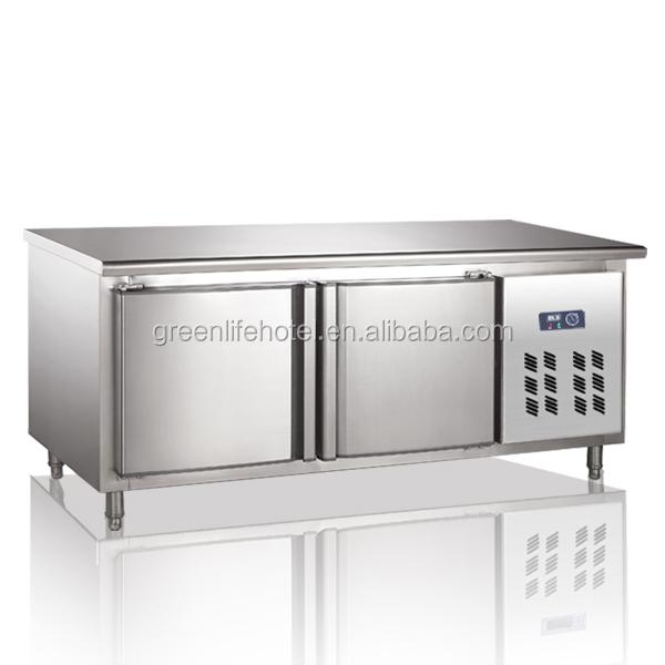 Restaurant Kitchen Fridge lvni stainless steel salad fridge cabinet/restaurant under counter