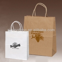 white craft paper rope handle paper shopping bags wholesale