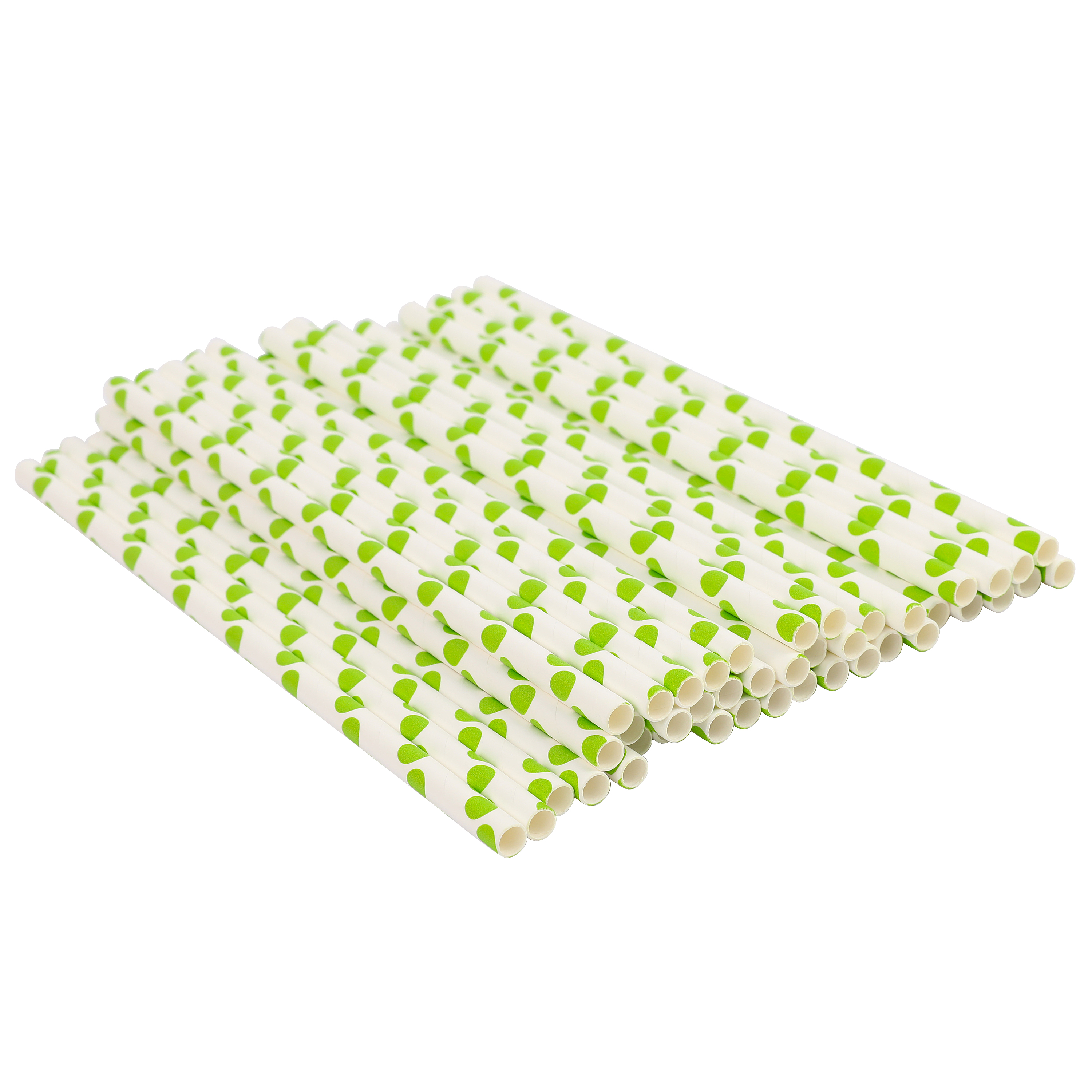 Wholesale top quality biodegradable polka dot paper straws
