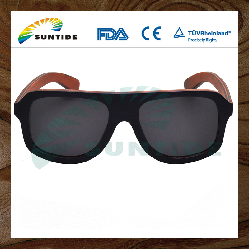 2017 modern design High Quality multi layers wood made fashion sunglasses