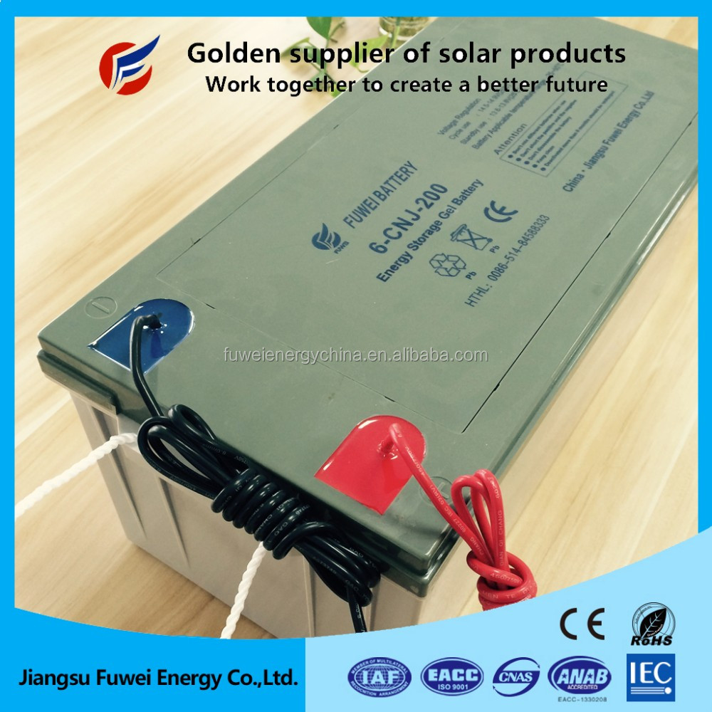 3 years warranty sealed VRLA sealed 12v 600ah deep cycle solar battery