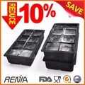 Renjia food grade custom ice cube tray silicone transparent ice mold maker