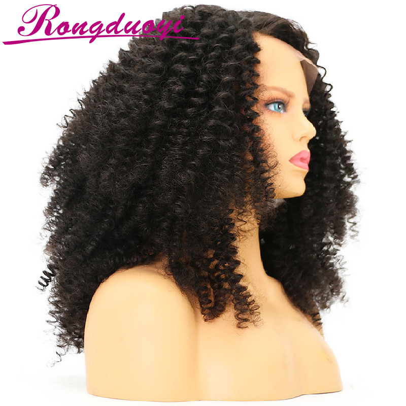 Unprocessed Brazilian Human Hair Full Lace Wig Curly Natural Color Full Cuticle Human Hair Wig