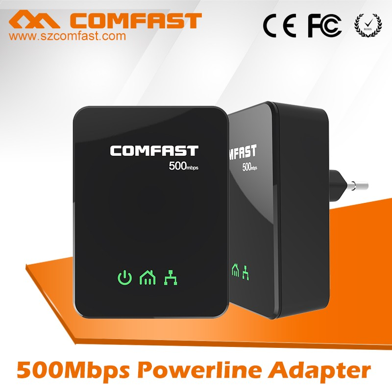OEM Best COMFAST Network adapter CF-WP500M Customized 500M Home Plug Powerline PLC Adapter