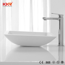 Modern bathroom vanity set square solid surface face wash basin
